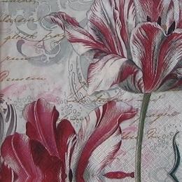 9547. Тюльпаны на узорах, 5 шт., 20 руб/шт