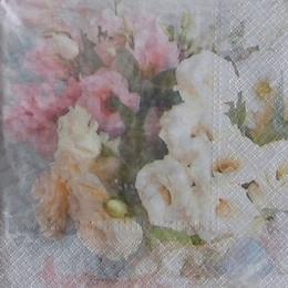 9550. Розовые и белые цветы, 5 шт., 17 руб/шт