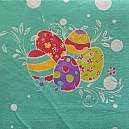 9555. Яйца на зеленом фоне