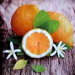 9564. Лимоны на коричневом