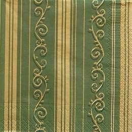 9603. Золотой бордюр на зеленом. 10 шт., 7 руб/шт