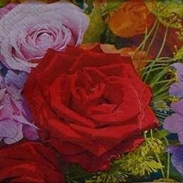 9608. Крупные разноцветные розы. 5 шт., 12 руб/шт