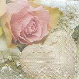 9617. Роза с сердцем. 10 шт., 14 руб/шт