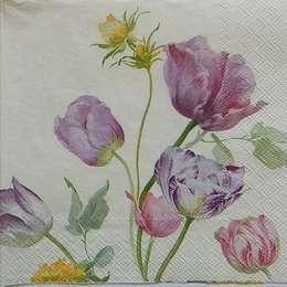 9619. Тюльпаны на бежевом