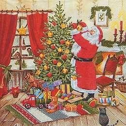 9653. Санта наряжает елку