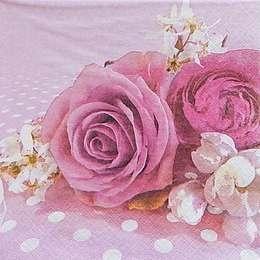 9665. Розы на розовом