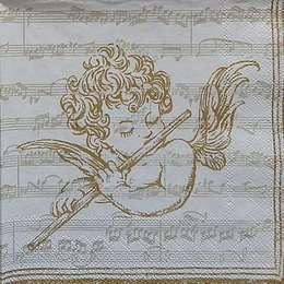 9680. Золотые ангелы на нотах