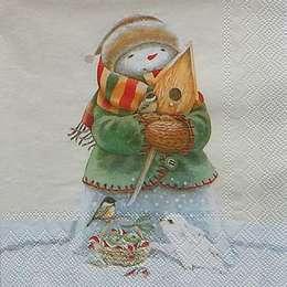 9686. Снеговик со скворечником