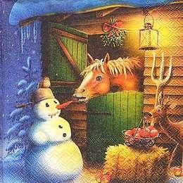 9693. Конь и снеговик