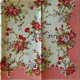 9720. Мелкие цветы с розовым бордюром. 5 шт., 13 руб/шт