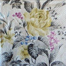 9740. Белая роза в цветах. 5 шт., 17 руб/шт