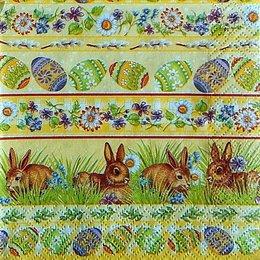 9748. Пасхальные зайчики в цветах