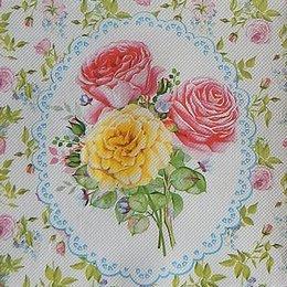 9760. Розовый сад. Двухслойная. 10 шт., 6 руб/шт