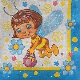 9763. Веселые пчелки. Двухслойная. 10 шт., 6,5 руб/ шт.