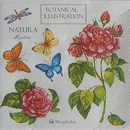 9765. Бабочки и розы. Двухслойная.  5 шт., 8 руб/ шт.