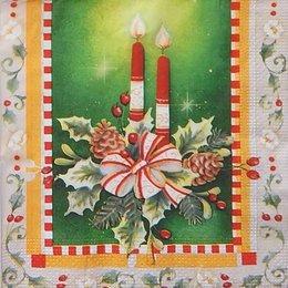 9776. Свечи на зеленом