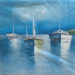 9787. Лодки в море