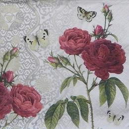 9806. Розы и бабочка