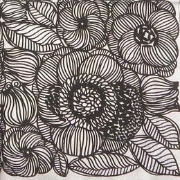 9813. Черно-белые цветы. 5 шт., 17 руб/шт
