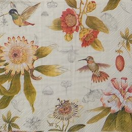 9817. Колибри и цветы