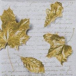 9820. Золотые листья на письменах. 5 шт., 17 руб/шт