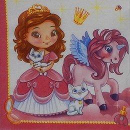 9829. Принцесса и пони. Двухслойная. 20 шт., 4,5 руб/шт