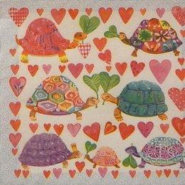 9831. Влюбленные черепашки. Двухслойная
