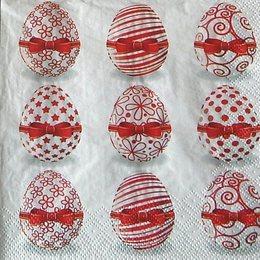 9835. Красные яйца. 5 шт., 9 руб/шт