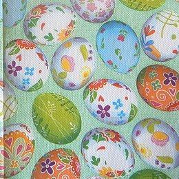 9837. Пасхальные яйца. Двухслойная. 20 шт., 4,5 руб/шт