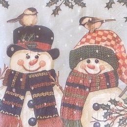 9910. Пара снеговиков. 5 шт., 9 руб/шт