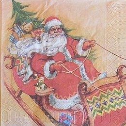 9912. Дед Мороз на санях. 5 шт., 9 руб/шт
