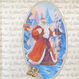 9917. Дед Мороз. Двухслойные. 5 шт., 9 руб/шт