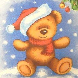 9918. Мишка Санта. Двухслойные