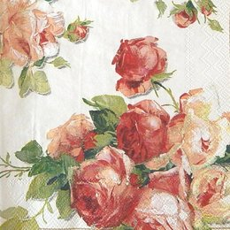 9925. Розы на белом фоне