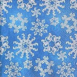 9966. Синяя идилия снежинок