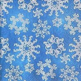 9966. Синяя идилия снежинок. 40 шт., 5 руб/шт