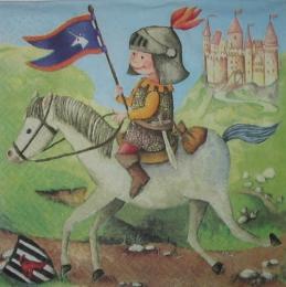 1021. Рыцарь на белом коне.