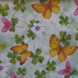 124. Желтые и розовые бабочки