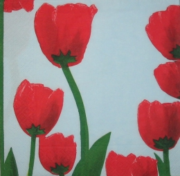 698. Тюльпаны на голубом
