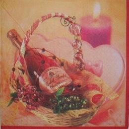 1206. Вино  в корзинке