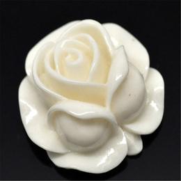 hm-1145. Декор Роза, кремовая.