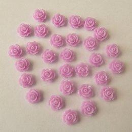hm-1523. Кабошон Роза, лиловый, 20 шт, 4 руб/шт