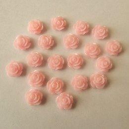 hm-1524. Кабошон Роза, нежно-розовый, 5 шт, 7 руб/шт