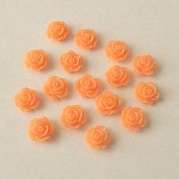 hm-1525. Кабошон Роза, апельсиновый, 10 шт, 5 руб/шт