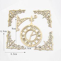 hm-1832. Набор Часы и четыре рамки, дерево