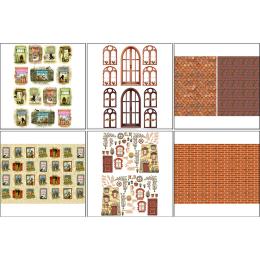 11520. Набор декупажных карт «Чайные домики 1»