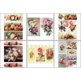 11542. Набор декупажных карт «Винтажные розы 1»
