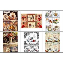 11556. Набор декупажных карт «Кофе чай 2»