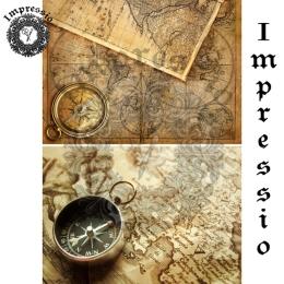 213042. Рисовая декупажная карта Impressio.  25 г/м2