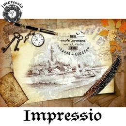 213703. Рисовая декупажная карта Impressio.  25 г/м2